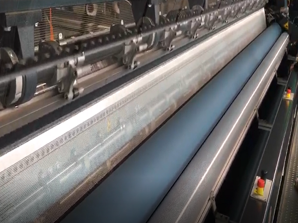 The weaving production of polyester fabric for PVC tarpaulin 2