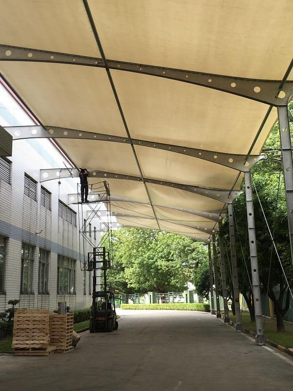 Tent Application --- Self-made 6.1m wide PVC Tarpaulin