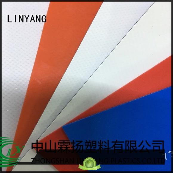 LINYANG the newest pvc coated fabric factory for sale